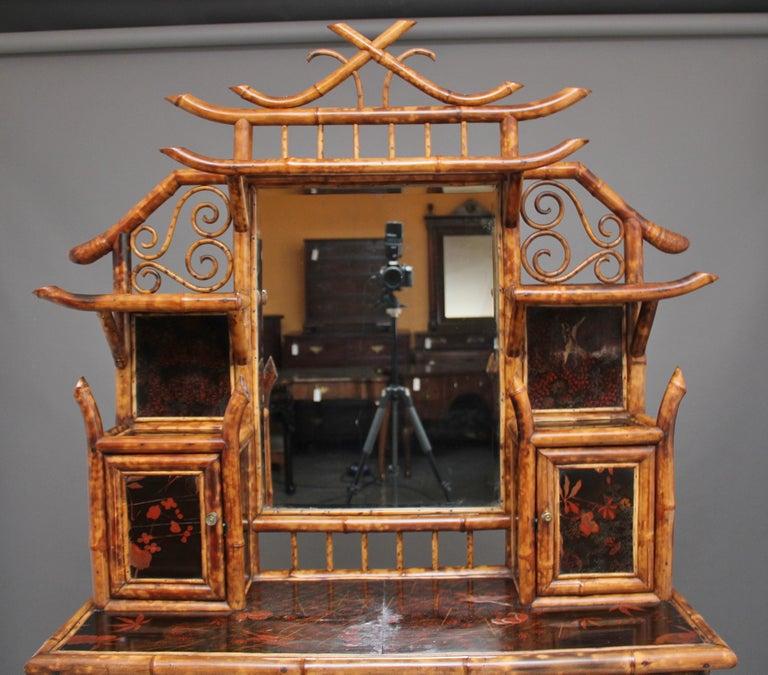 Impressive 19th Century Bamboo Cabinet For Sale 3
