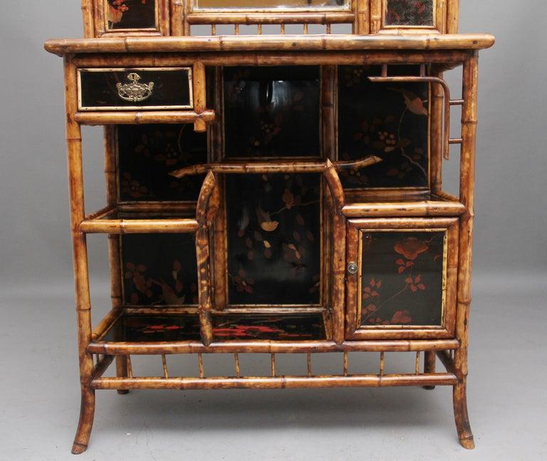 Impressive 19th Century Bamboo Cabinet For Sale 4