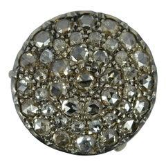 Impressive 2ct Rose Cut Diamond 15ct Rose Gold Cluster Panel Ring