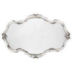 Impressive Antique Large Silver Mirror Plateau by Fabergé, Russia, circa 1899