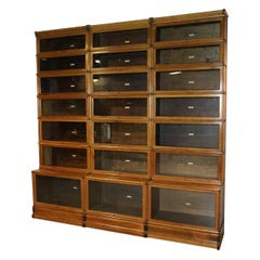 Impressive Antique Oak Globe Wernicke Bookcase