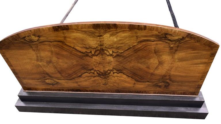 20th Century Impressive Art Deco Walnut Double Bed, circa 1930s For Sale