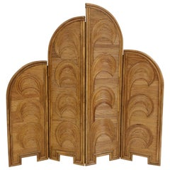 Impressive Bamboo Four-Panel Screen, circa 1970, Italy