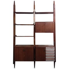 Impressive Bookshelf from Midcentry Teak Wood Franco Albini Style