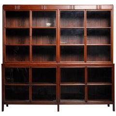 Impressive British Colonial Teak Wood Bookcase