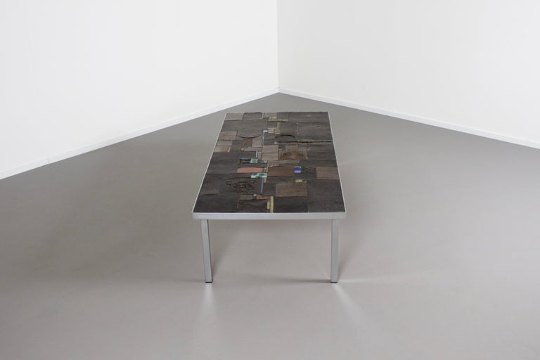 Impressive Brutalist Coffee Table by Pia Manu for Amphora, 1960s In Good Condition For Sale In Echt, NL