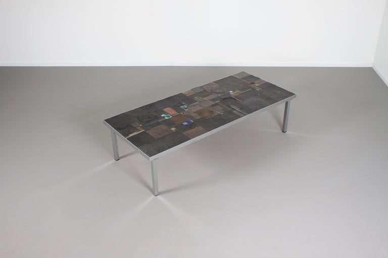 Stone Impressive Brutalist Coffee Table by Pia Manu for Amphora, 1960s For Sale