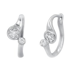 Impressive Classic Diamond White Gold Earrings
