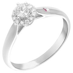 Impressive Classic Ruby Diamond White Gold Ring