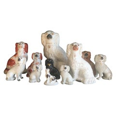 Impressive Collection of 19th Century English Staffordshire Dogs