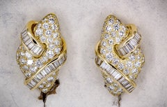 Impressive Diamond and Gold Earrings