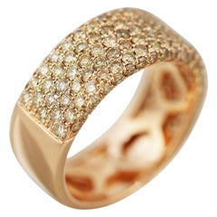Impressive Diamond Pink Gold Ring