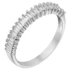 Impressive Diamond White Gold Ring