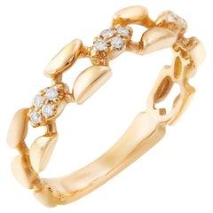 Impressive Diamond Yellow Gold Ring