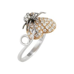 Impressive Diamond Yellow Gold Ring