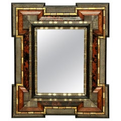 Impressive Dutch Mirror in Tortoiseshell and Silver