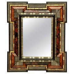 Impressive Dutch Mirror in Tortoiseshell and Silver