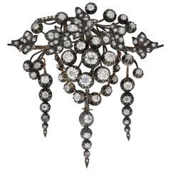 Impressive Early Victorian Diamond Brooch, circa 1850