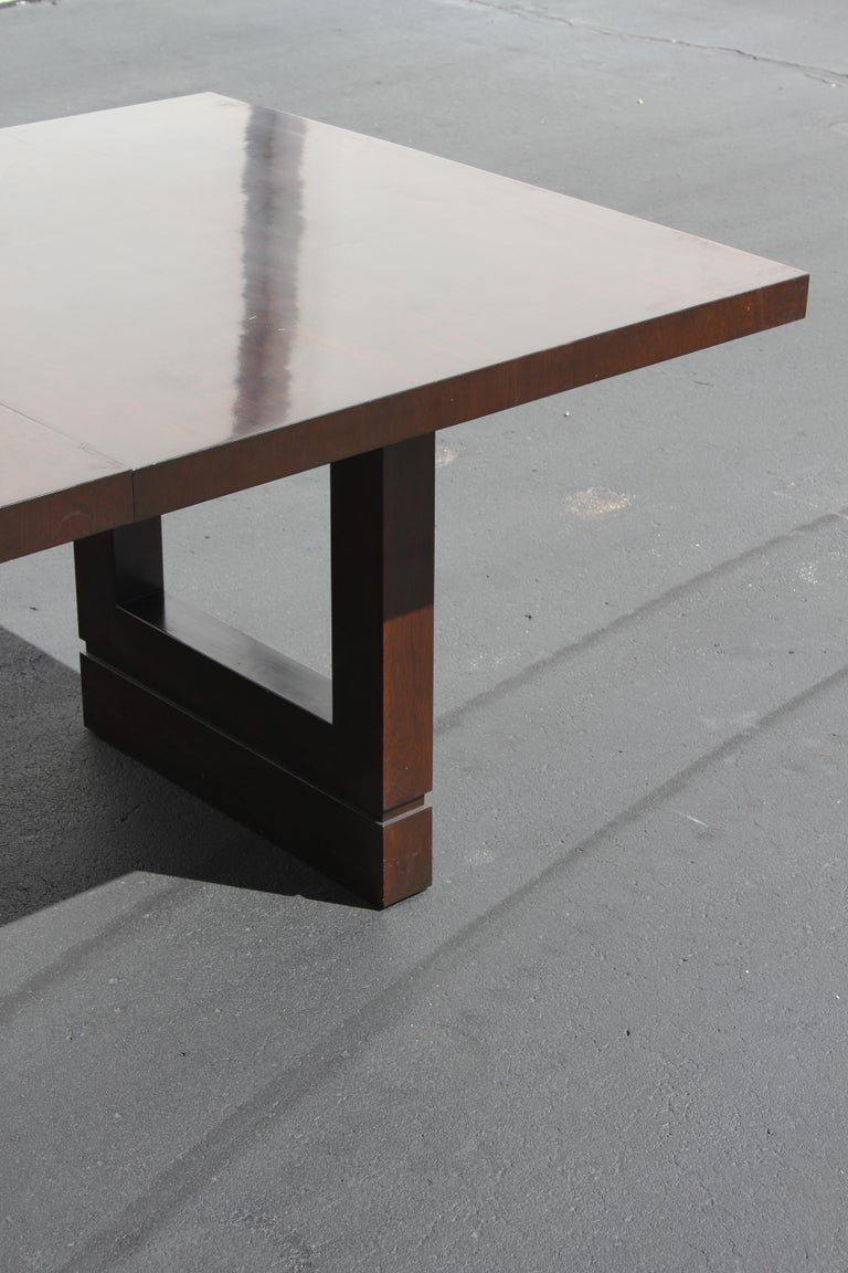 Mid-Century Modern Impressive Edward J. Wormley attributed for Dunbar Dining Table For Sale
