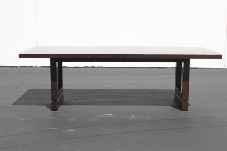 Stained Impressive Edward J. Wormley attributed for Dunbar Dining Table For Sale