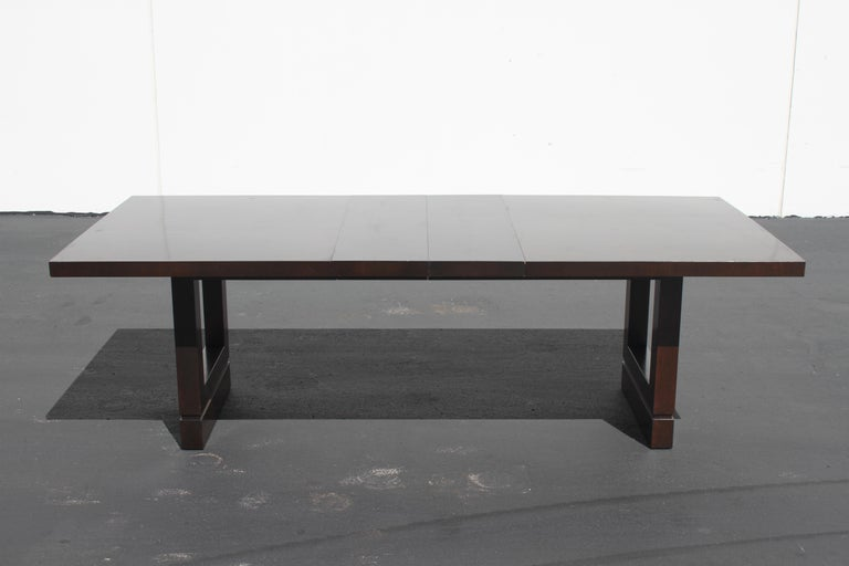 Impressive Edward J. Wormley attributed for Dunbar Dining Table In Good Condition For Sale In St. Louis, MO