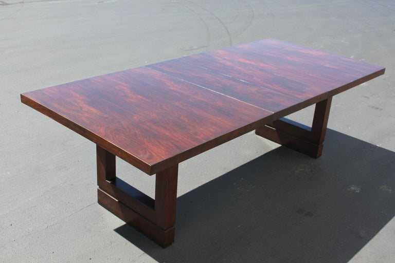 Mid-20th Century Impressive Edward J. Wormley attributed for Dunbar Dining Table For Sale