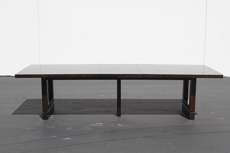 Impressive Edward J. Wormley attributed for Dunbar Dining Table For Sale 1