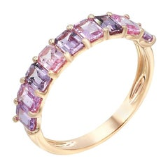 Impressive Fancy Pink Sapphire Diamond Pink Gold Ring