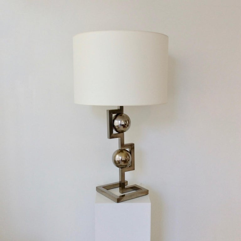 Impressive Geometrical Table Lamp, circa 1970, Italy 2