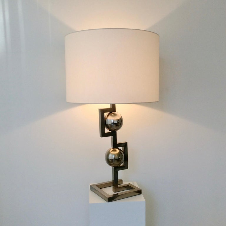 Impressive Geometrical Table Lamp, circa 1970, Italy 3