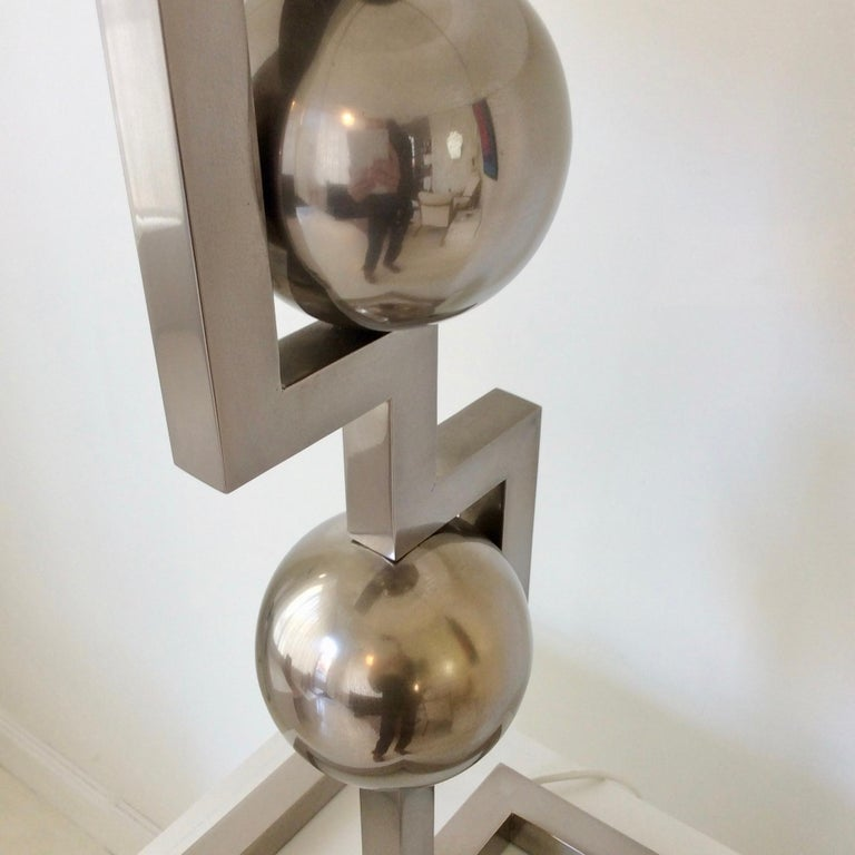 Impressive Geometrical Table Lamp, circa 1970, Italy 6