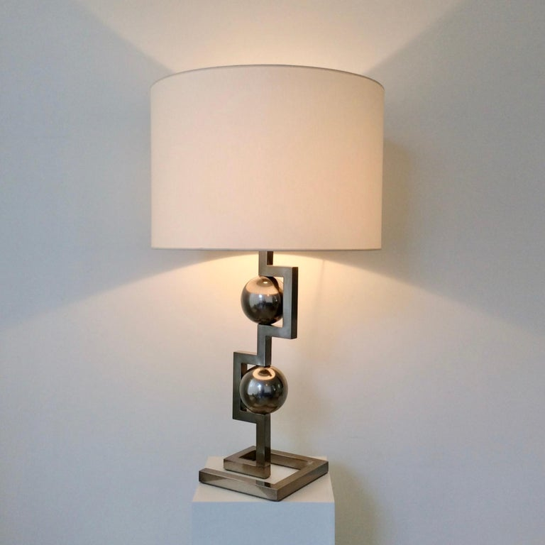 Impressive Geometrical Table Lamp, circa 1970, Italy 8