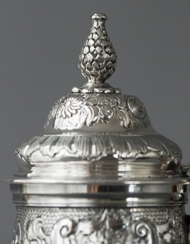 Impressive George II Silver Coffee Pot, London 1751 For Sale 4