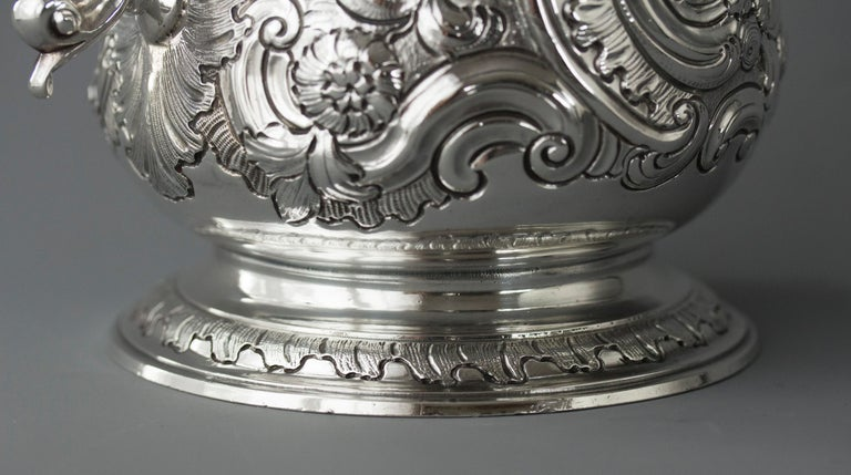 Impressive George II Silver Coffee Pot, London 1751 For Sale 8