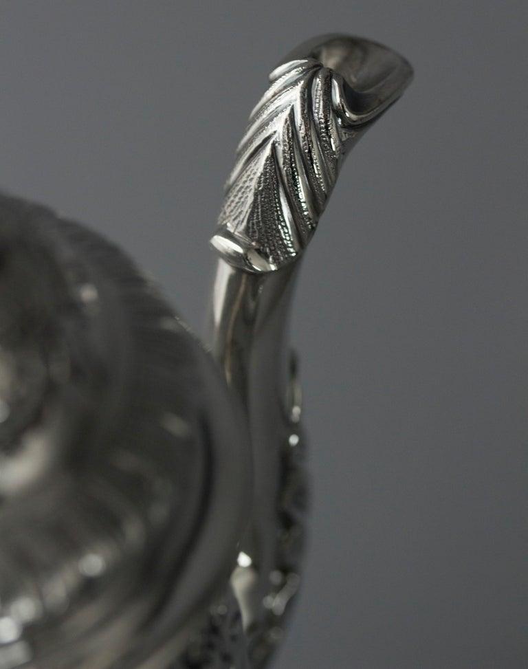 Impressive George II Silver Coffee Pot, London 1751 For Sale 11