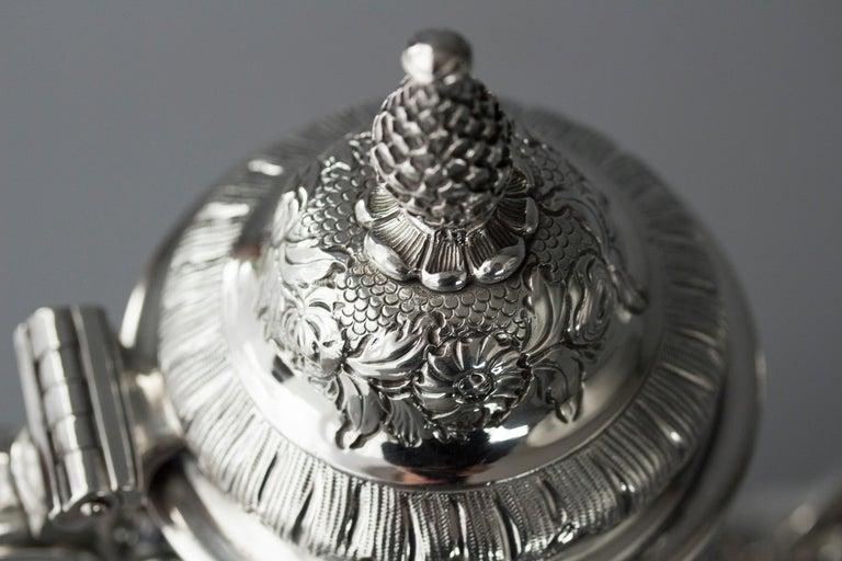Impressive George II Silver Coffee Pot, London 1751 For Sale 12