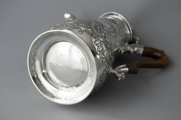 Impressive George II Silver Coffee Pot, London 1751 For Sale 14