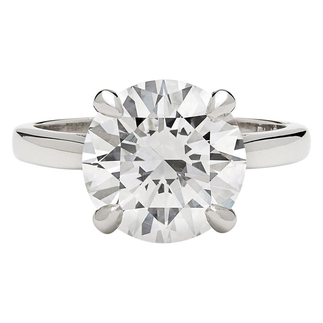 Impressive GIA 4.07 Carat Diamond Engagement Ring