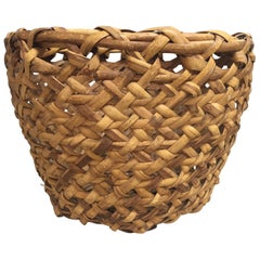 Impressive in Scale Antique Woven Rattan Basket