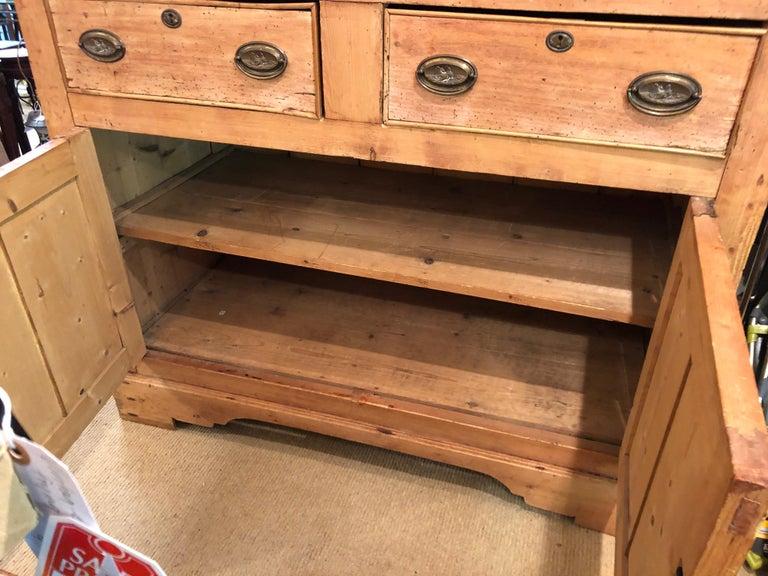 Impressive Large 19th Century Rustic Irish Pine Cabinet For Sale 6
