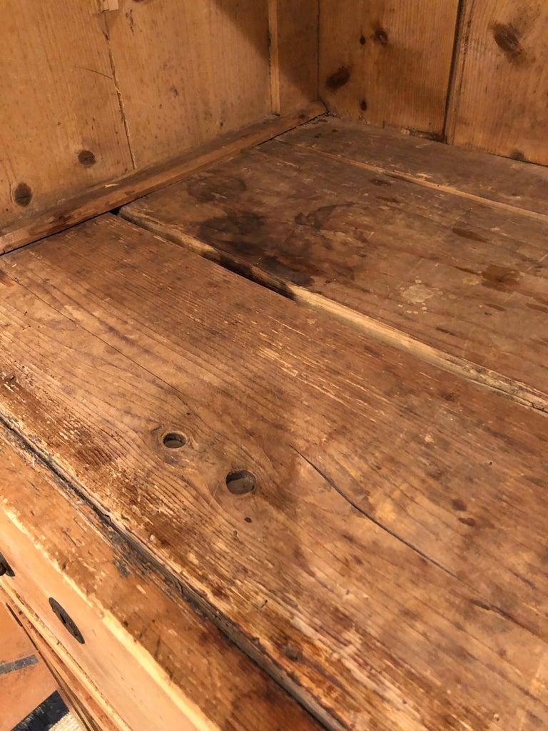 Impressive Large 19th Century Rustic Irish Pine Cabinet For Sale 9
