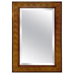 Impressive Large Rectangular Biedermeier Style Ebony and Walnut Mirror