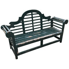 Impressive Large Solid English Edwardian Lutyens Style Bench in Teak