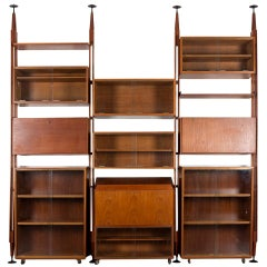 "Impressive ""Lb7"" Bookshelf by Franco Albini for Poggi"