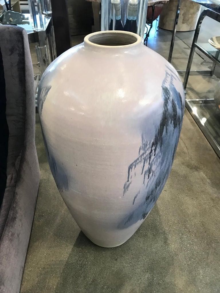 Impressive Lidded Floor Vase by Noted Artist Mark Hines For Sale 3