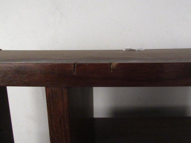 Impressive Midcentury Walnut Bookcase or Room Divider For Sale 4