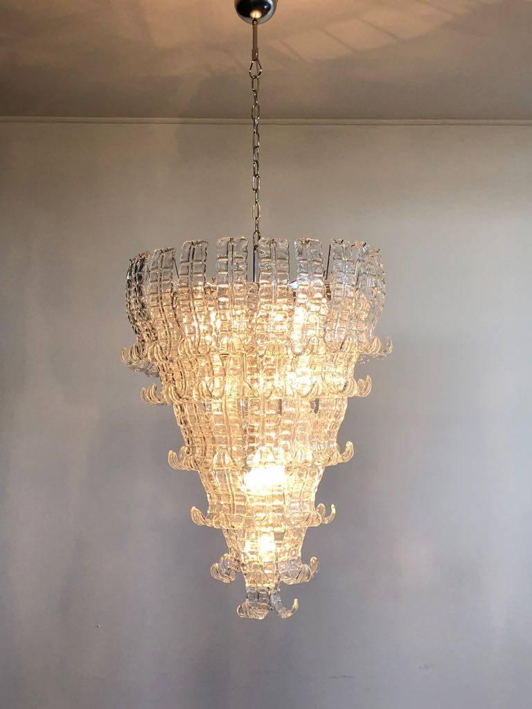 European Impressive Murano Glass Chandelier by Barovier & Toso, Italy, 1970s For Sale