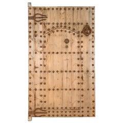Impressive Reclaimed Moroccan Door, 20th Century