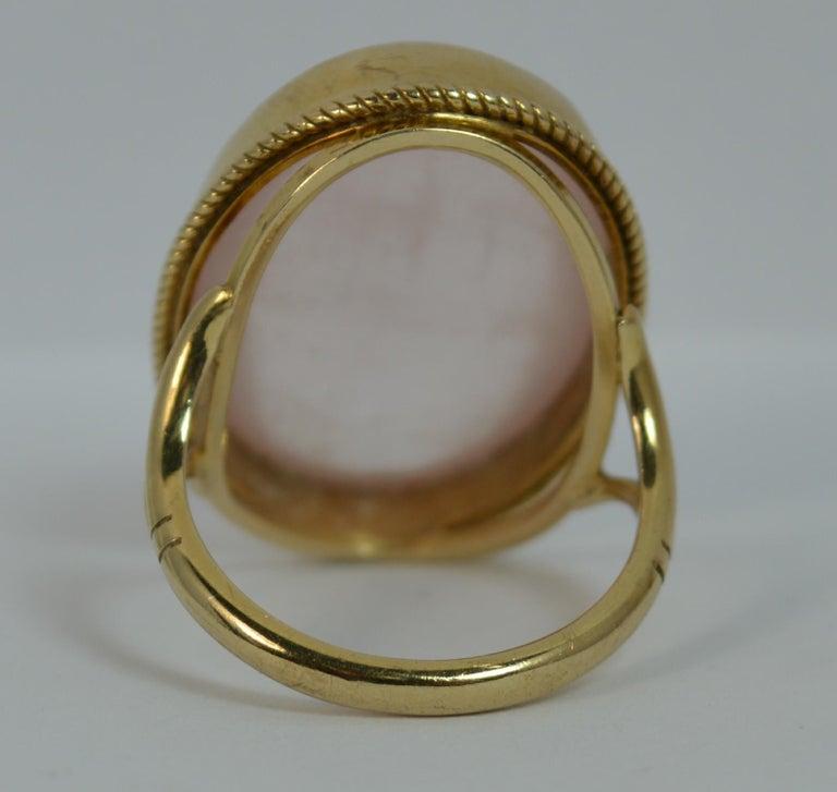 Impressive Rose Quartz Solitaire 9 Carat Gold Statement Ring For Sale 1