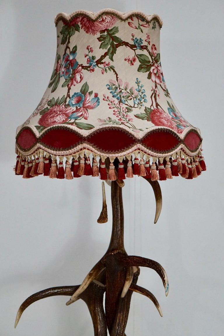 Impressive Rustic Deer Antler Floor Lamp, 1950s, Austria For Sale 9